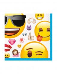 16 Petites serviettes en papier Emoji™ 25 cm