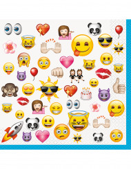 16 Serviettes en papier Emoji™ 33 cm