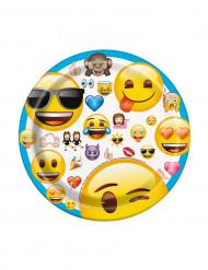 8 Petites assiettes en carton Emoji™ 17 cm