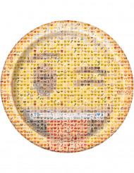 8 Assiettes en carton Emoji™ 22 cm