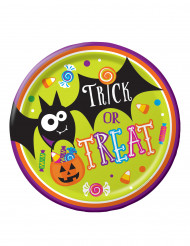 8 Assiettes en carton Trick or Treat Halloween 23 cm