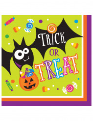 16 Serviettes en papier Trick or Treat Halloween 33 cm
