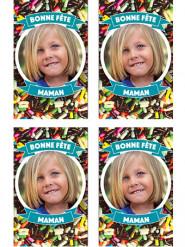 9 Vignettes en sucre personnalisables pour biscuits Vermicelles