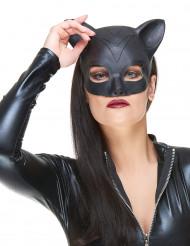 Demi masque Latex femme-chat adulte