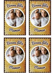 9 Vignettes en sucre personnalisables pour biscuits petit-beurre