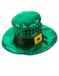 Mini chapeau à boucle et sequins Saint Patrick adulte