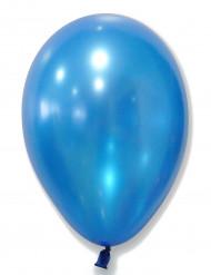 50 Ballons bleus métallisés