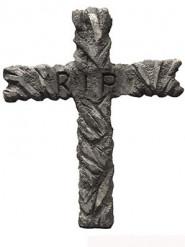 Décoration croix RIP 67 x 52 cm Halloween