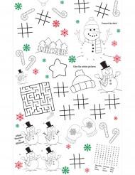 Nappe de Noël en papier avec activités enfant