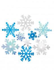 12 Décorations cartonnées Flocons de Noël