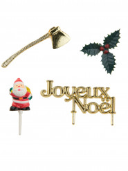Décorations bûche de Noël