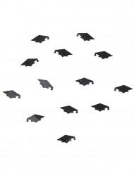Confettis noirs chapeau de diplômé 14g
