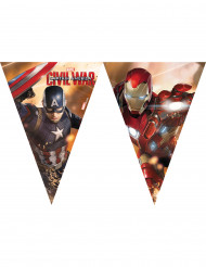Guirlande fanions en plastique Captain America Civil War™ 2.3 mètres