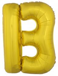 Ballon aluminium géant lettre B doré 1m