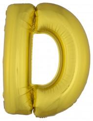 Ballon aluminium géant lettre D doré 1m