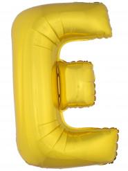 Ballon aluminium géant lettre E doré 1m