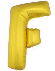 Ballon aluminium géant lettre F doré 1m
