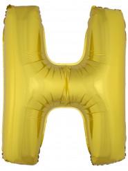 Ballon aluminium géant lettre H doré 1m