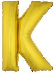 Ballon aluminium géant lettre K doré 1m