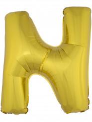 Ballon aluminium géant lettre N doré 1m