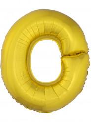 Ballon aluminium géant lettre O doré 1m