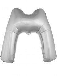 Ballon aluminium géant lettre M argenté 1m