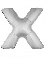 Ballon aluminium géant lettre X argenté 1m