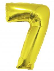 Ballon aluminium géant chiffre 7 doré 1m