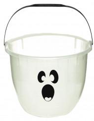 Seau fantôme phosphorescent Halloween