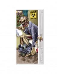 Décoration de porte zombie aux toilettes Halloween