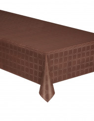 Nappe en rouleau papier damassé chocolat 6 mètres