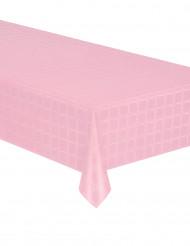 Nappe en rouleau papier damassé rose pastel 6 mètres
