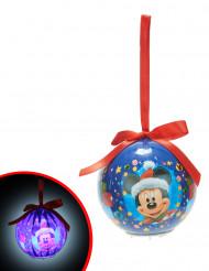Boule lumineuse Mickey™ 7,5 cm Noël