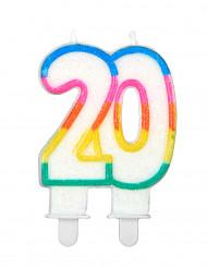 Bougie d'anniversaire chiffre 20