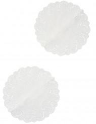 6 Napperons en papier dentelle 26,5 cm