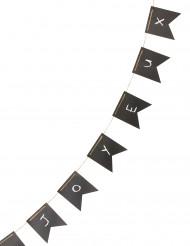 Guirlande fanions ardoise avec craies 5 mètres