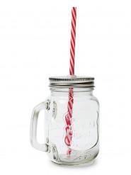 Mason Jar en verre avec paille