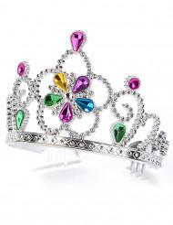 Diadème princesse serti multicolore adulte