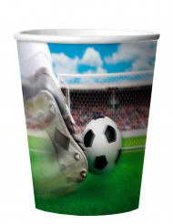 4 Gobelets hologramme Football 266 ml