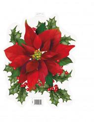 Décoration cartonnée Fleurs de Noël 37 cm