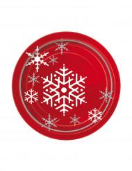 8 petites assiettes Sapin de noël étoilé 18 cm