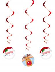 3 Suspensions spirales Père Noël et Renne