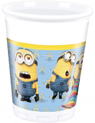 8 Gobelets en plastique lovely Minions™ 200 ml