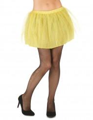 Tutu jaune avec jupon opaque femme