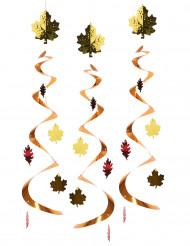 3 Suspensions feuilles d'automne