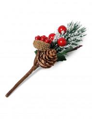 Petite décoration branche de noël 11,5 cm