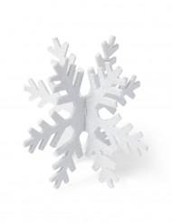 Flocon à paillettes blanc 15 cm