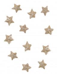 70 Etoiles pailletées cuivre 2 cm