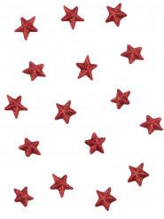 70 Etoiles paillettées rouges 2 cm