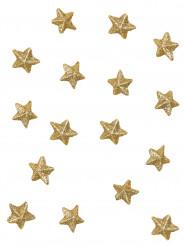 70 Etoiles paillettées or 2 cm